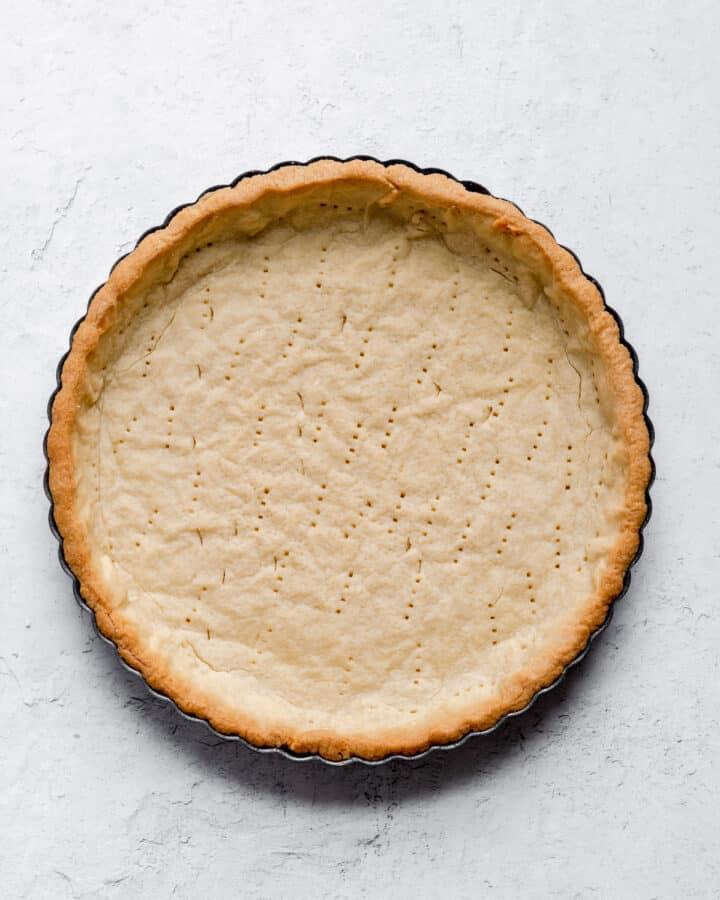 a fully baked tart shell
